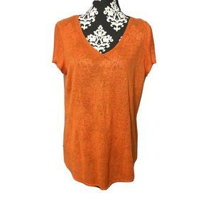 Eileen Fisher Large New With Tags Orange Short Sle